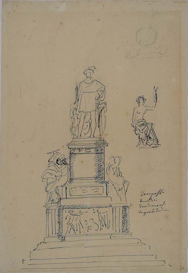 Foto Lorenzo Bartolini studio per il monumento