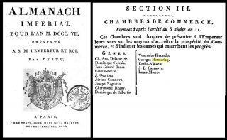 Fig. 5 - La Camera di Commercio 1807