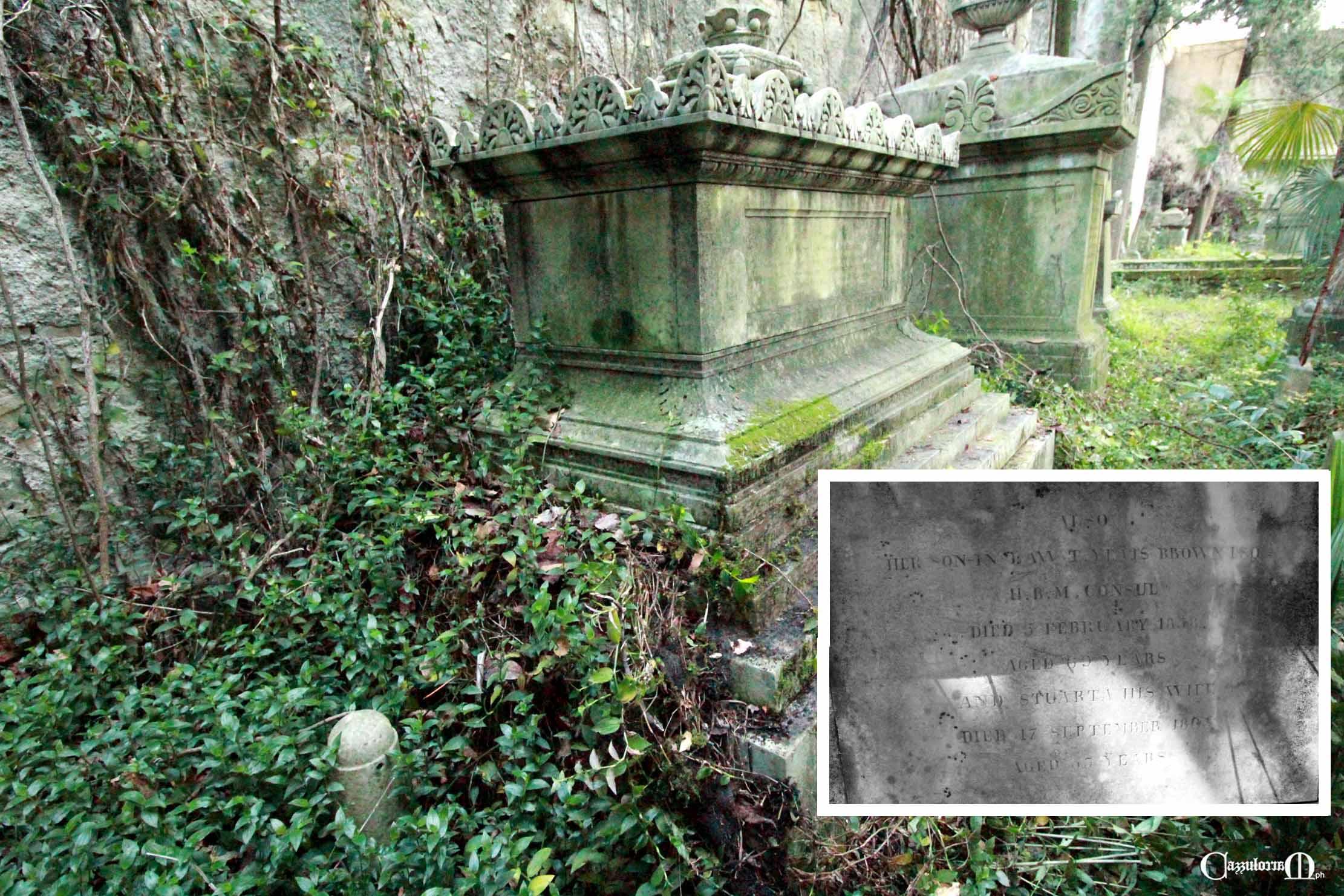 la tomba di Frances Erskine
