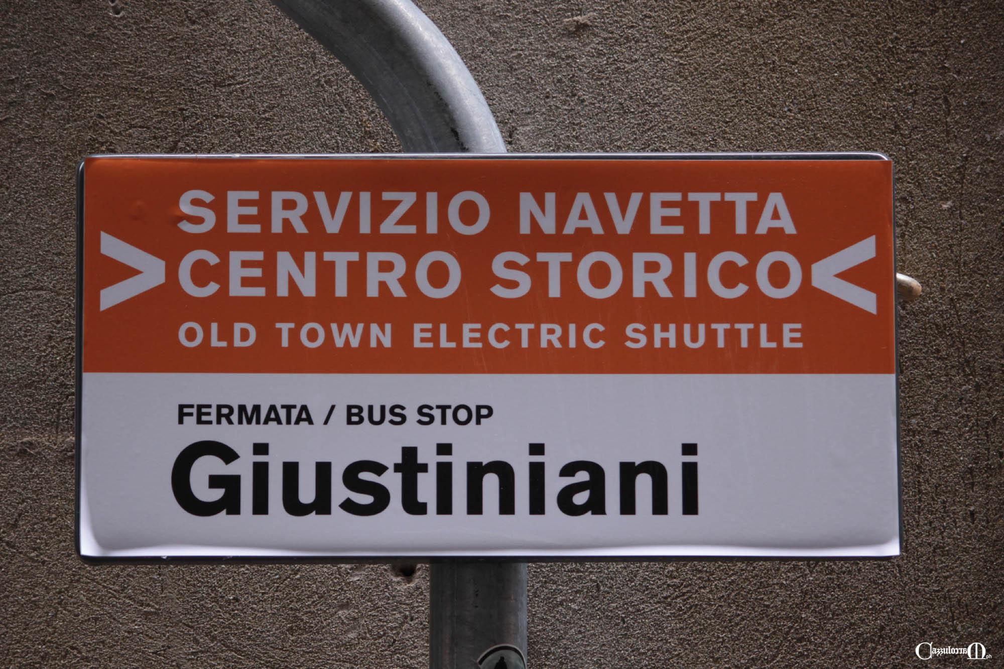 Servizio Navetta elettrica in via dei Giustiniani