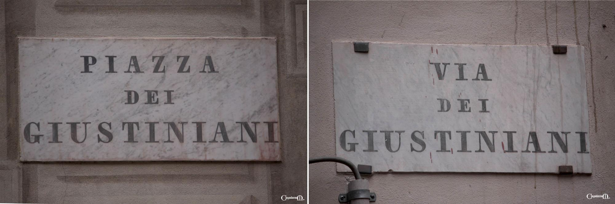 piazza e via dei Giustiniani